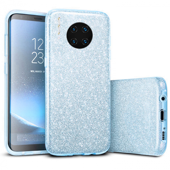 Husa Huawei Mate 30 Pro 2019 Sclipici Carcasa Spate Albastru Silicon TPU 0