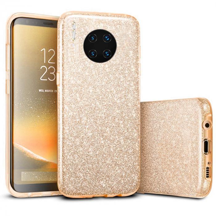Husa Huawei Mate 30 Pro 2019 Sclipici Carcasa Spate Auriu Gold Silicon TPU 0