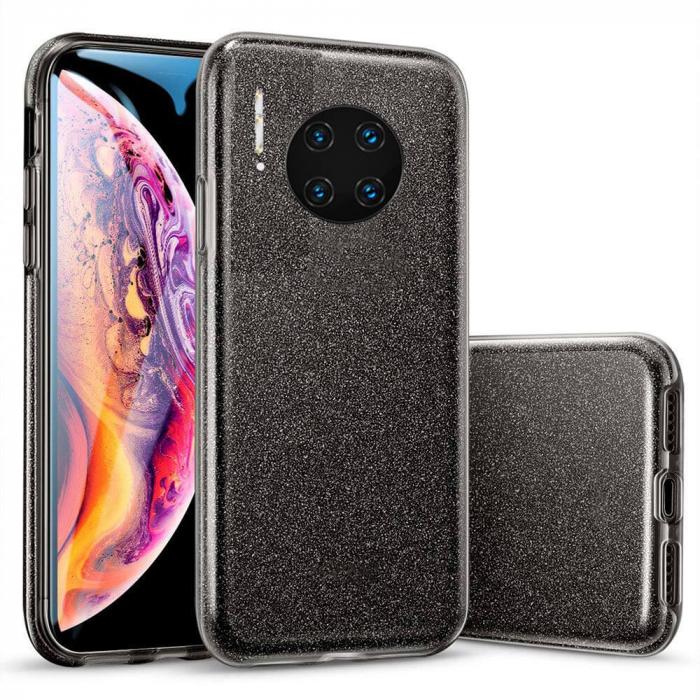 Husa Huawei Mate 30 Pro 2019 Sclipici Carcasa Spate Negru Silicon TPU 0