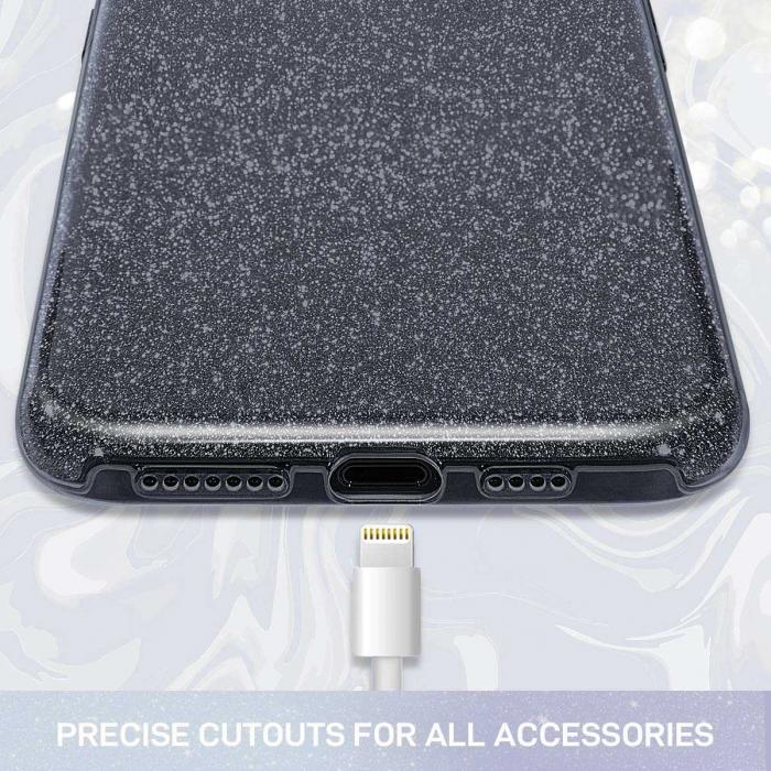 Husa Huawei Mate 30 Pro 2019 Sclipici Carcasa Spate Negru Silicon TPU 2