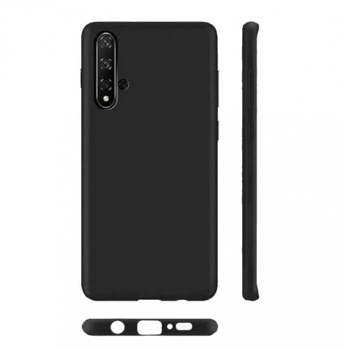 Husa Huawei Nova 5T Negru Silicon Slim protectie Premium Carcasa 2