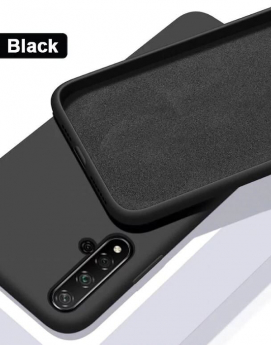 Husa Huawei Nova 5T Negru Silicon Slim protectie Premium Carcasa 1
