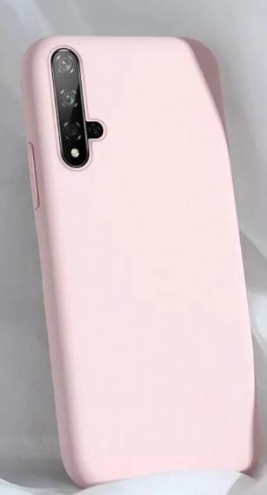 Husa Huawei Nova 5T Roz Silicon Slim protectie Premium Carcasa 1