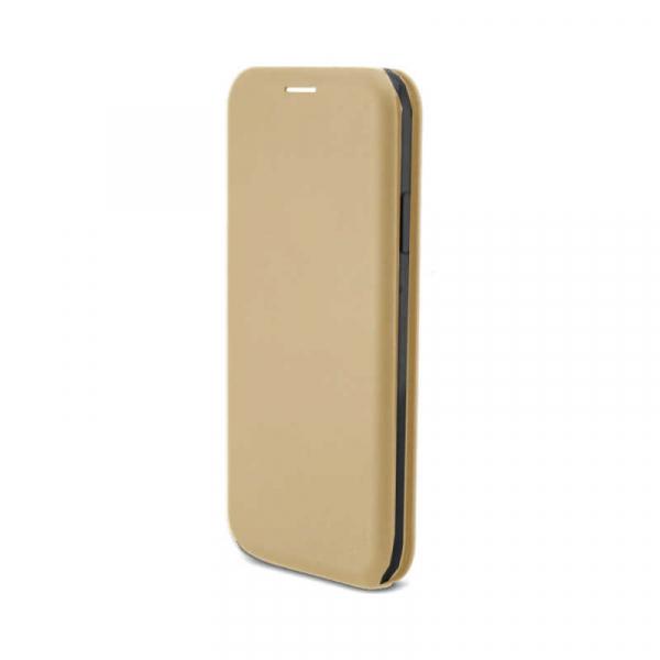 Husa Huawei P20 Lite 2018 Gold Tip Carte Flip Cover din Piele Ecologica Portofel cu Inchidere Magnetica Auriu 1