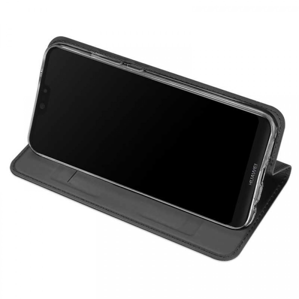 Husa Huawei P20 Lite 2018 Toc Flip Tip Carte Portofel Negru Piele Eco Premium DuxDucis 2