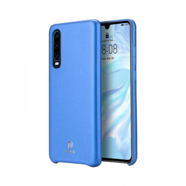 Husa Huawei P30 2019 Carcasa Spate TPU Piele Ecologica  Albastru Premium DuxDucis Skin Lite 0