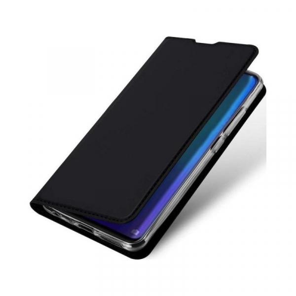 Husa Huawei P30 2019 Toc Flip Tip Carte Portofel Piele Eco Premium DuxDucis Negru [3]