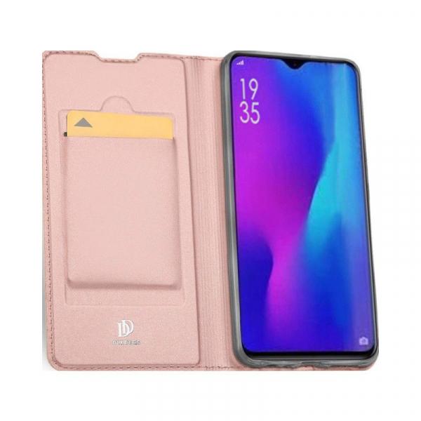 Husa Huawei P30 2019 Toc Flip Tip Carte Portofel Piele Eco Premium DuxDucis Roz [1]
