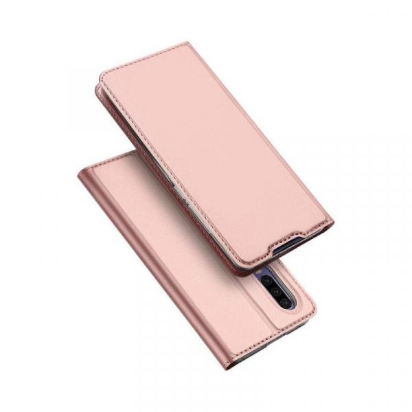 Husa Huawei P30 2019 Toc Flip Tip Carte Portofel Piele Eco Premium DuxDucis Roz [4]