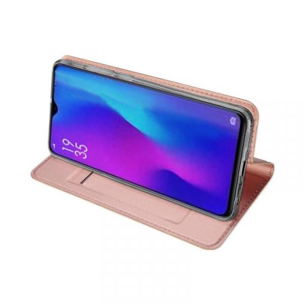 Husa Huawei P30 2019 Toc Flip Tip Carte Portofel Piele Eco Premium DuxDucis Roz [2]