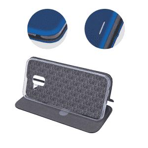 Husa Huawei P30 Lite 2019 Albastru Tip Carte/Toc Flip Cover din Piele Ecologica Portofel cu Inchidere Magnetica 2