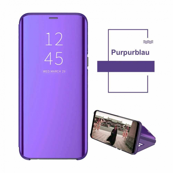 Husa Huawei P30 Lite 2019 Clear View Flip Toc Carte Standing Cover Oglinda Mov 1