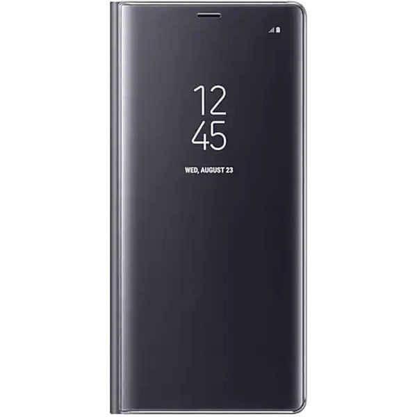Husa Huawei P30 Lite 2019 Negru Book Flip Semitransparent Toc Carte Standing Cover Oglinda 0