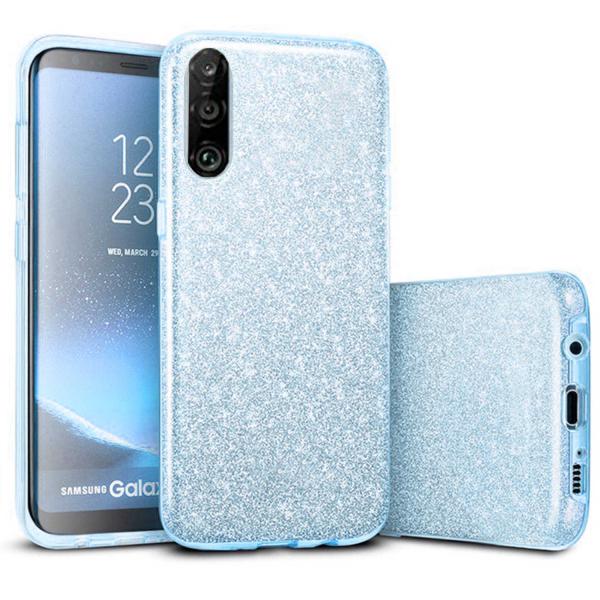 Husa Huawei P30 Lite 2019 Sclipici Carcasa Spate Albastru Silicon TPU 0