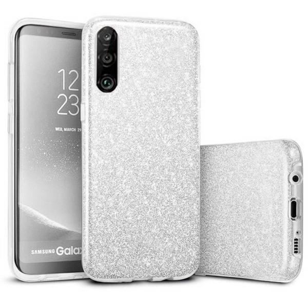 Husa Huawei P30 Lite 2019 Sclipici Carcasa Spate Argintiu Silicon TPU 0