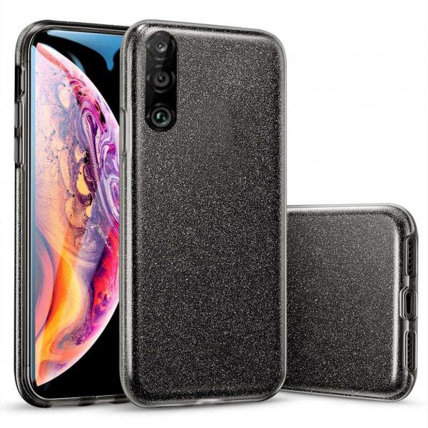 Husa Huawei P30 Lite 2019 Sclipici Carcasa Spate Negru Silicon TPU 0