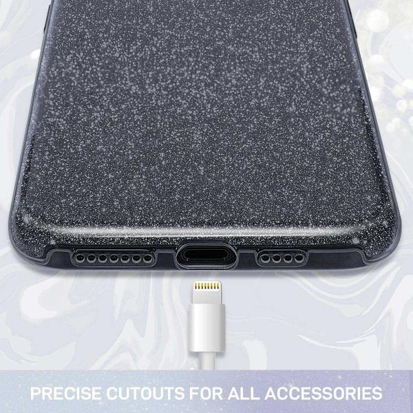 Husa Huawei P30 Lite 2019 Sclipici Carcasa Spate Negru Silicon TPU 1