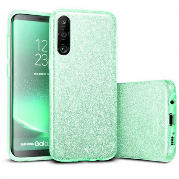 Husa Huawei P30 Lite 2019 Sclipici Carcasa Spate Verde Silicon TPU 0