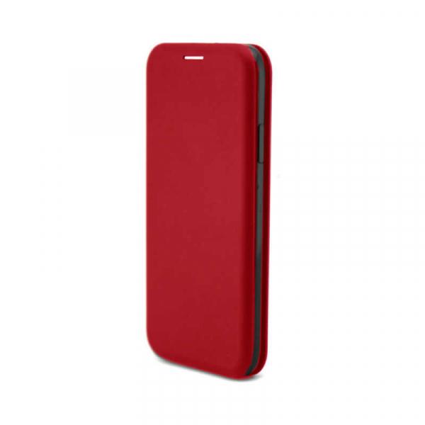 Husa Huawei P30 Lite 2019 Tip Carte Flip Cover din Piele Ecologica Portofel cu Inchidere Magnetica Rosu 0