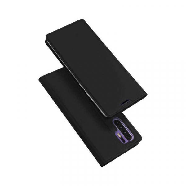 Husa Huawei P30 Pro 2019 Toc Flip Tip Carte Portofel Negru Piele Eco Premium DuxDucis [4]