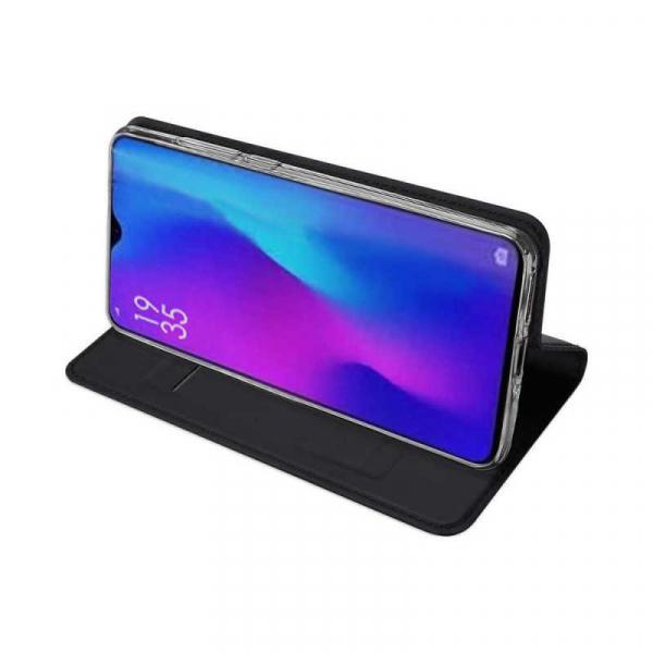 Husa Huawei P30 Pro 2019 Toc Flip Tip Carte Portofel Negru Piele Eco Premium DuxDucis [2]