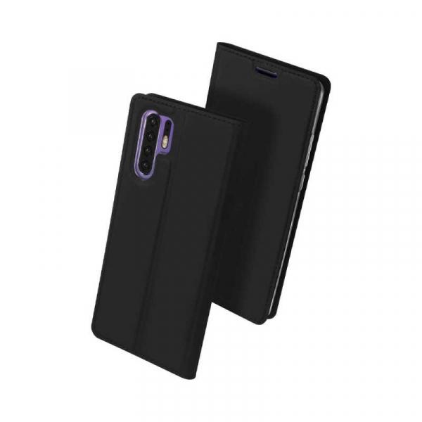 Husa Huawei P30 Pro 2019 Toc Flip Tip Carte Portofel Negru Piele Eco Premium DuxDucis [0]