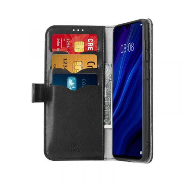 Husa Huawei P30 Pro 2019 Toc Flip Tip Carte Portofel Negru Piele Eco Premium DuxDucis Kado 1