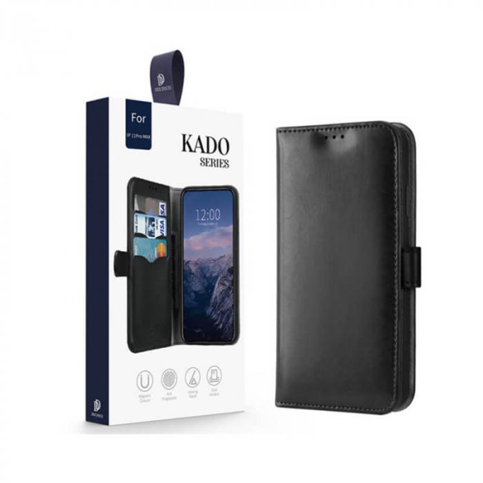 Husa Huawei P40 Lite 2020 Toc Flip Tip Carte Portofel Negru Kado 5