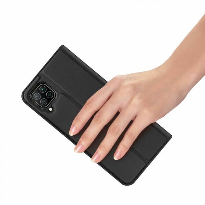 Husa Huawei P40 Lite 2020 Toc Flip Tip Carte Portofel Negru Piele Eco DuxDucis [5]