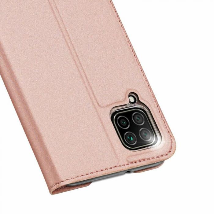 Husa Huawei P40 Lite 2020 Toc Flip Tip Carte Portofel Roz Piele Eco DuxDucis 5