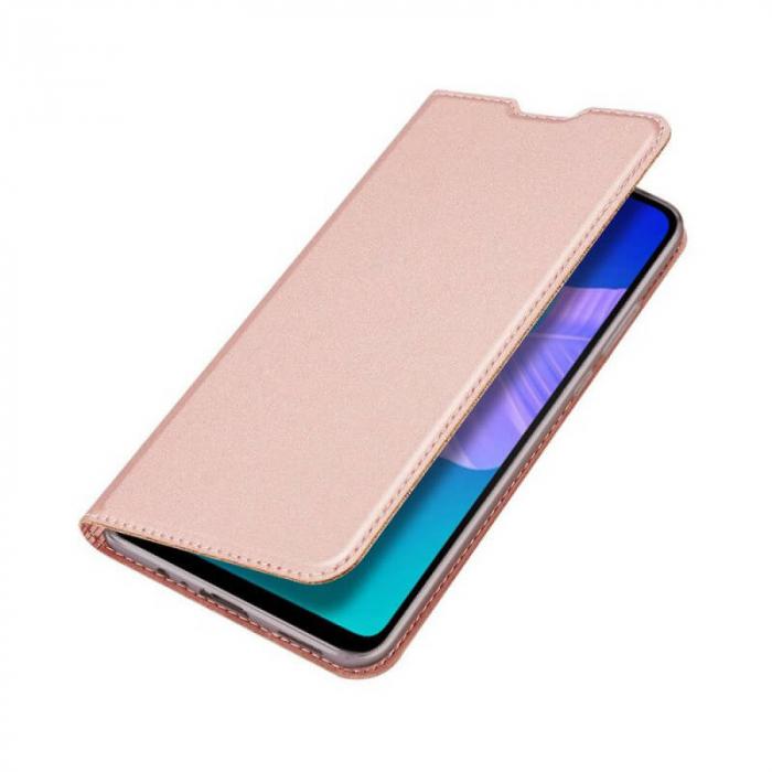 Husa Huawei P40 Lite 2020 Toc Flip Tip Carte Portofel Roz Piele Eco DuxDucis 3