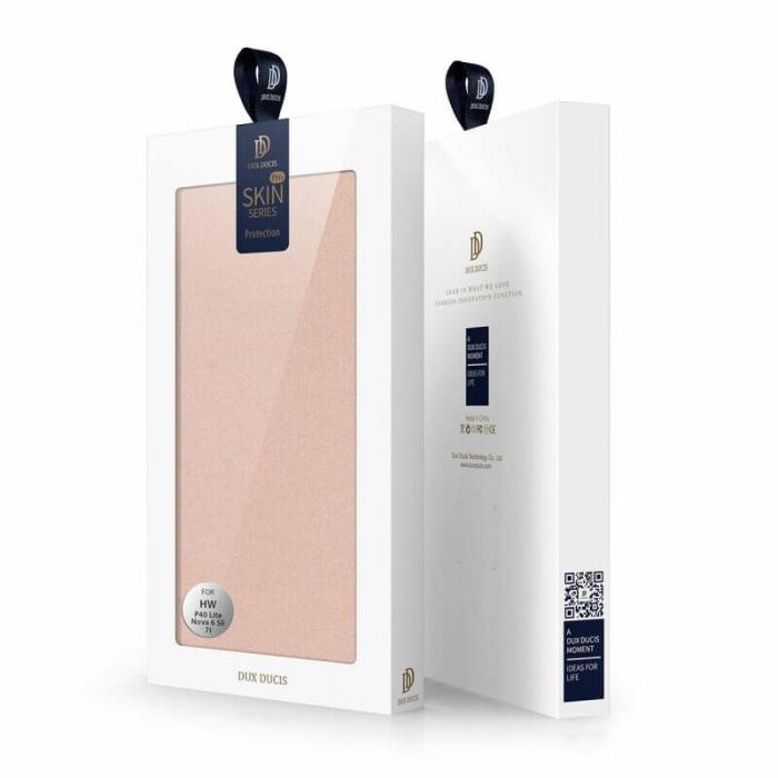 Husa Huawei P40 Lite 2020 Toc Flip Tip Carte Portofel Roz Piele Eco DuxDucis 6