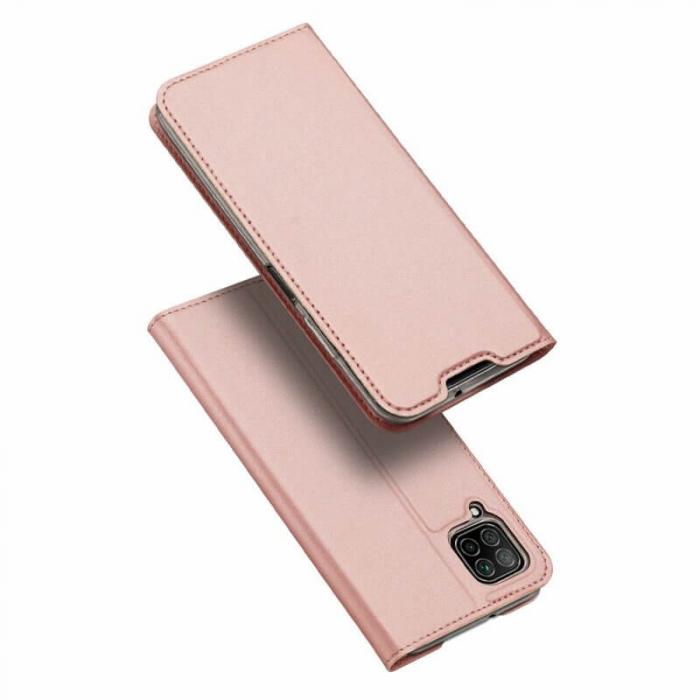 Husa Huawei P40 Lite 2020 Toc Flip Tip Carte Portofel Roz Piele Eco DuxDucis 0