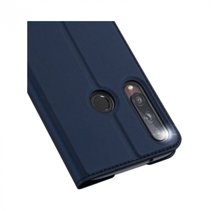 Husa Huawei P40 Lite E 2020 Toc Flip Tip Carte Portofel Bleumarin Piele Eco Premium DuxDucis 3