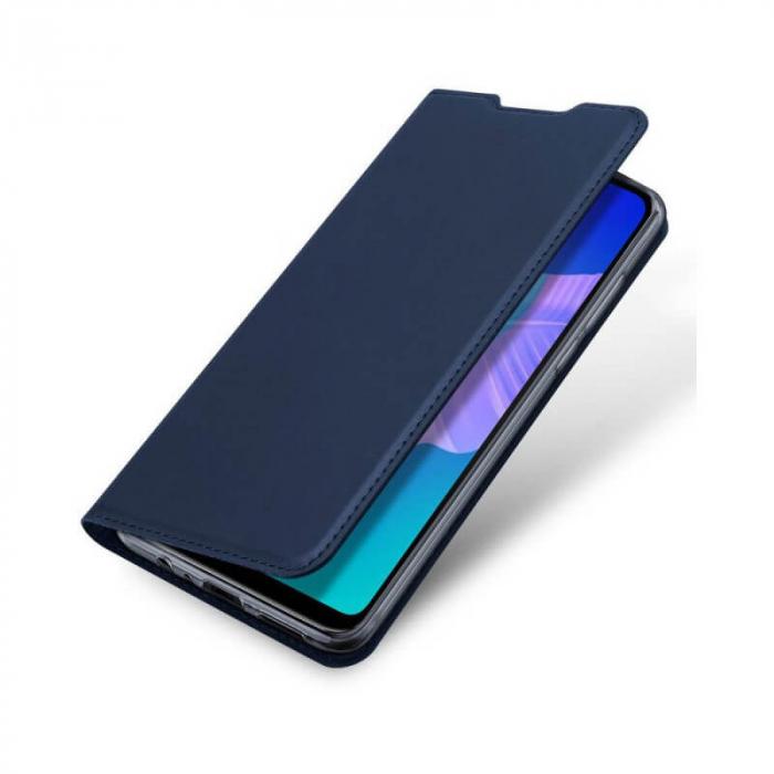 Husa Huawei P40 Lite E 2020 Toc Flip Tip Carte Portofel Bleumarin Piele Eco Premium DuxDucis 4