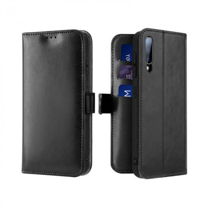 Husa Huawei P40 Lite E 2020 Toc Flip Tip Carte Portofel Negru Kado 0