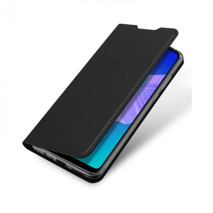Husa Huawei P40 Lite E 2020 Toc Flip Tip Carte Portofel Negru Piele Eco Premium DuxDucis 4