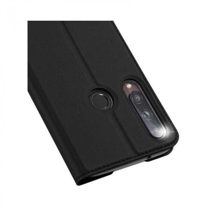 Husa Huawei P40 Lite E 2020 Toc Flip Tip Carte Portofel Negru Piele Eco Premium DuxDucis 3