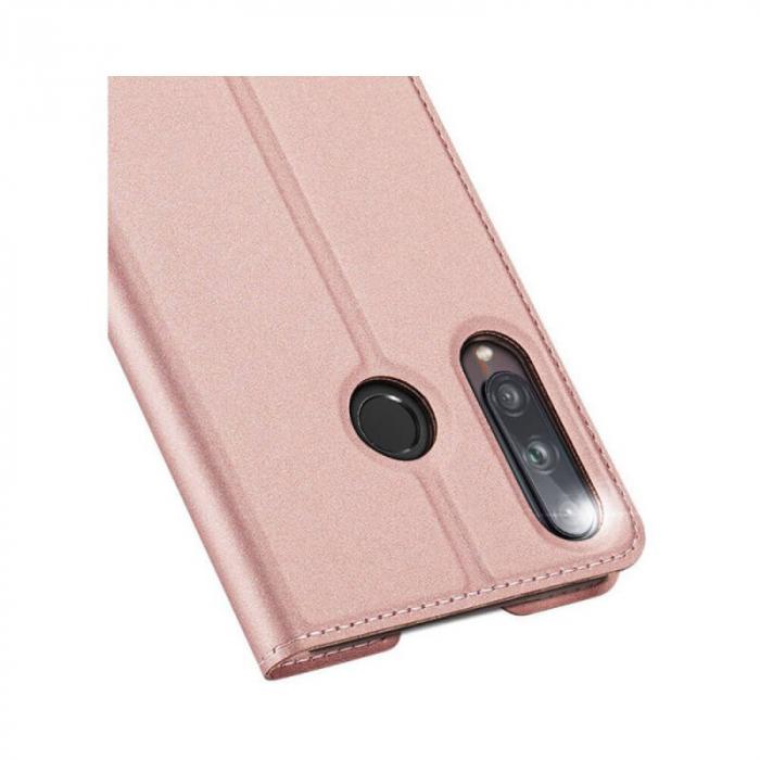 Husa Huawei P40 Lite E 2020 Toc Flip Tip Carte Portofel Roz Piele Eco Premium DuxDucis [3]