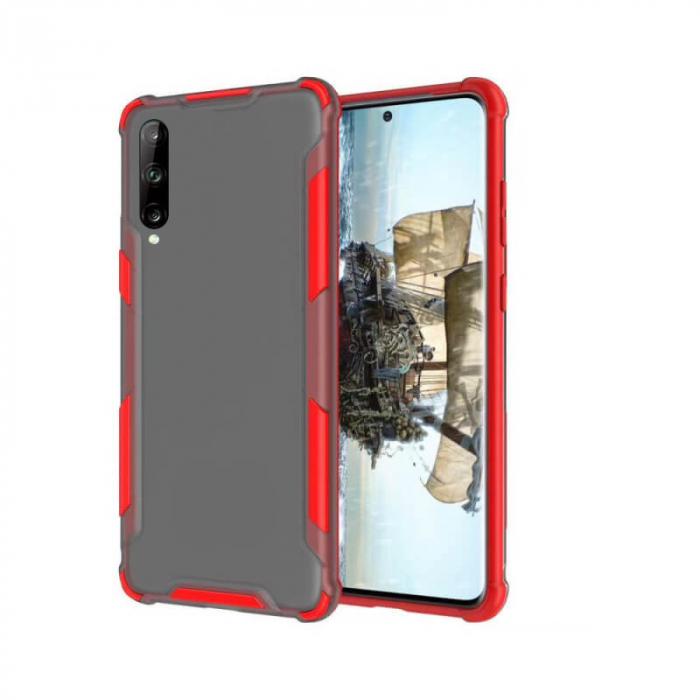 Husa Huawei P40 Lite E Silicon Antisoc Rosu Atlas [0]