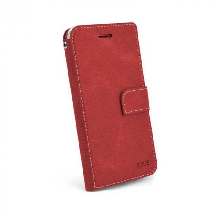 Husa Flip Huawei P40 Lite E Tip Carte Rosu Magnetica Hana Issue [0]