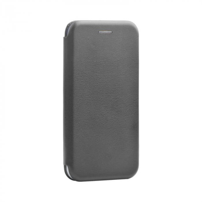 Husa Huawei P40 Lite Gri Tip Carte Flip Cover din Piele Ecologica Portofel cu Inchidere Magnetica [0]