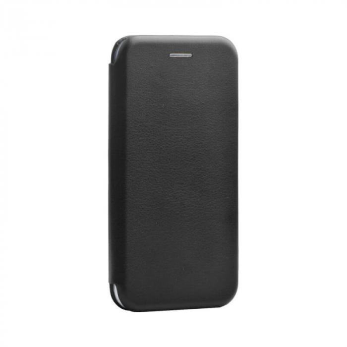 Husa Huawei P40 Lite Negru Tip Carte Flip Cover din Piele Ecologica Portofel cu Inchidere Magnetica 0