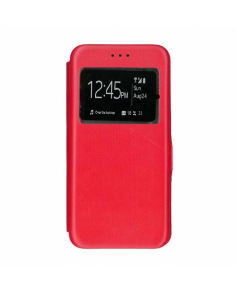Husa Huawei P9 Lite Rosie Portofel cu Fereastra Carte Flip Book cu Inchidere Magnetica 0