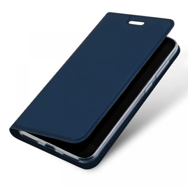 Husa Huawei P9 Lite Mini Toc Flip Tip Carte Portofel Bleumarin Piele Eco Premium DuxDucis 3