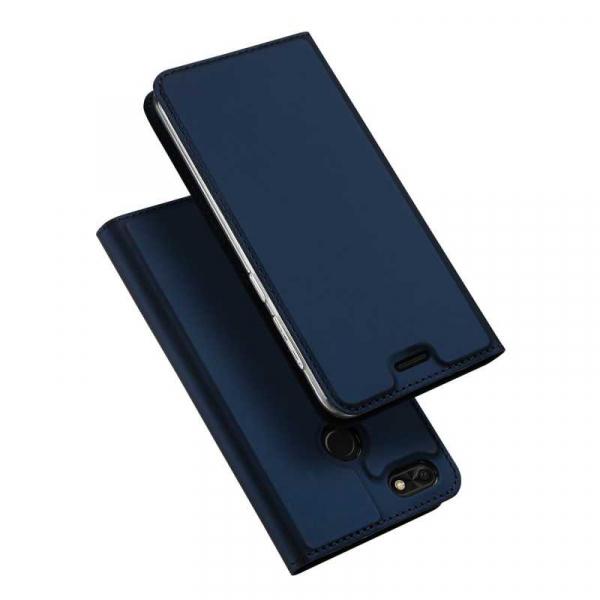 Husa Huawei P9 Lite Mini Toc Flip Tip Carte Portofel Bleumarin Piele Eco Premium DuxDucis 4