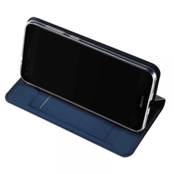 Husa Huawei P9 Lite Mini Toc Flip Tip Carte Portofel Bleumarin Piele Eco Premium DuxDucis 2