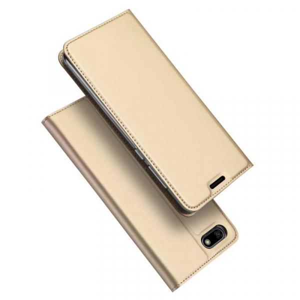 Husa Huawei Y5 2018 Toc Flip Tip Carte Portofel Auriu Gold Piele Eco Premium DuxDucis [4]