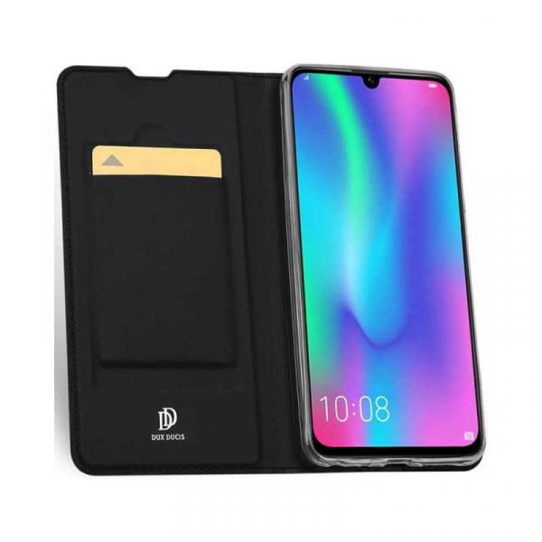 Husa Huawei Y5 2019 Negru Toc Piele Eco Premium DuxDucis Portofel Flip Cover Magnetic 1