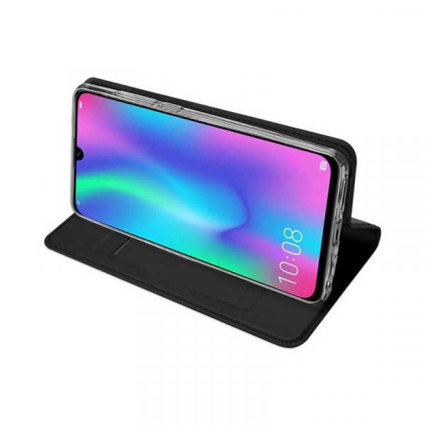Husa Huawei Y5 2019 Negru Toc Piele Eco Premium DuxDucis Portofel Flip Cover Magnetic 2